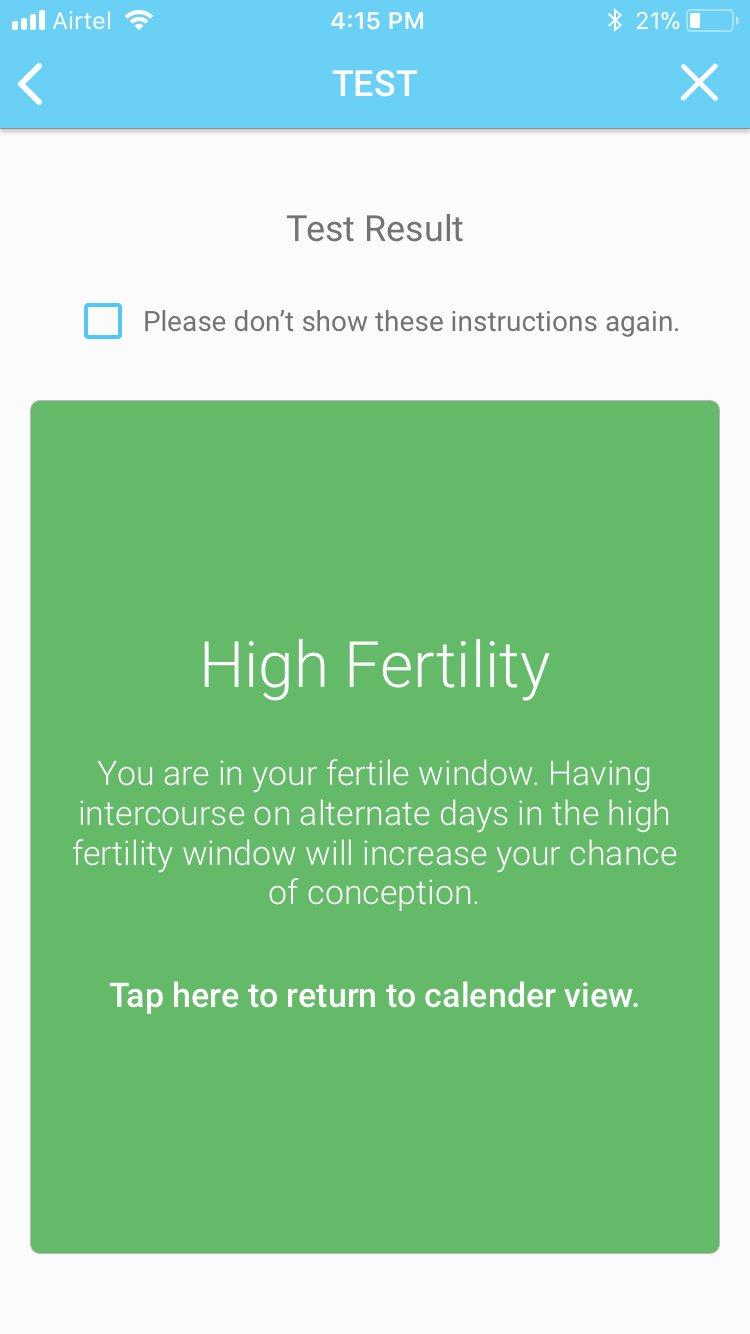 Identifies Up To 6 Fertile Days